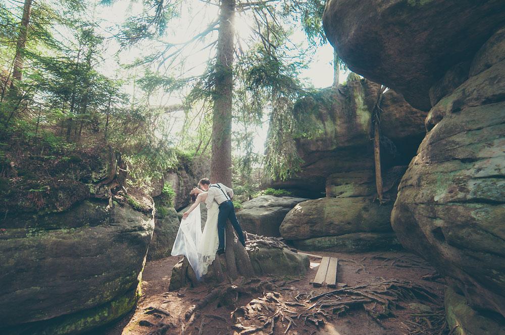 błędne skały plener ślubny