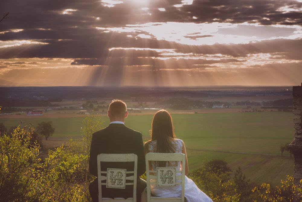 zachód słońca zdjęcia ślubne